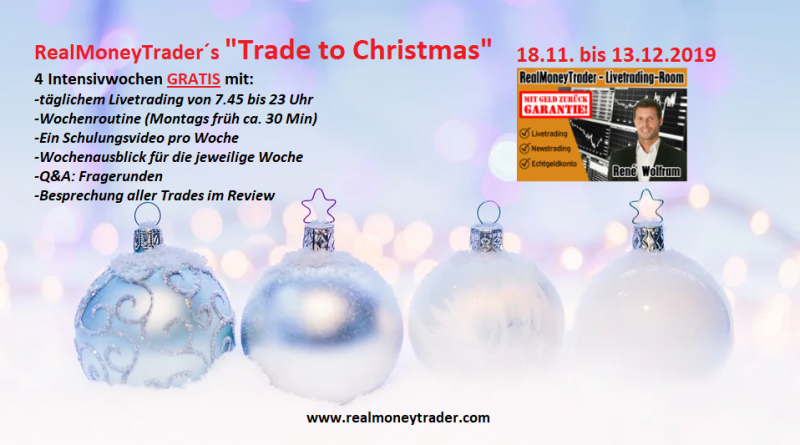 "[RealMoneyTrader]: ""Trade to Christmas"" – 4 Intensivwochen gratis"